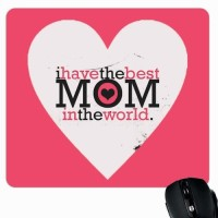 View Giftsmate Best Mom in the World Mousepad(Multicolor) Laptop Accessories Price Online(Giftsmate)