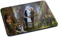 Magic Cases elves fence forest wolf Mousepad(Multicolor)
