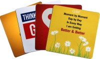 QuoteSutra Food For Soul Collection Of 4 Mousepad(Yellow, Red, White)