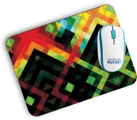 View Shoppers Bucket Color Abstract Mousepad(Milti Color) Laptop Accessories Price Online(Shoppers Bucket)