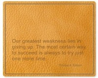 View Allthingscustomized Thomas Edison Quote Mousepad(Brown) Laptop Accessories Price Online(Allthingscustomized)