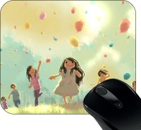 View Huppme Bachpan Mousepad(Black) Laptop Accessories Price Online(Huppme)