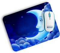 View Shoppers Bucket My Moon Mousepad(Blue) Laptop Accessories Price Online(Shoppers Bucket)