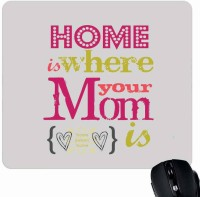 View Giftsmate Home is Where Mom is Mousepad(Multicolor) Laptop Accessories Price Online(Giftsmate)