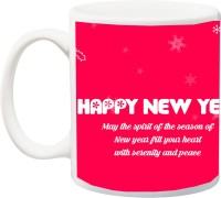 ME&YOU Happy New Year Gifts ;Beautiful Pink Flowers Ceramic Mug(325 ml)
