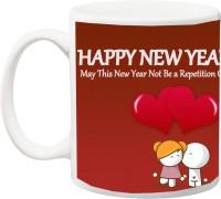 ME&YOU Gift for Husband/Wife,Boyfriend/Girlfriend;Happy New Year Baby Ceramic Mug(325 ml)