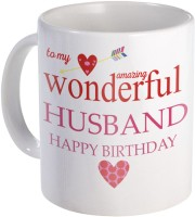 SKY TRENDS To The Best Husband for Wonderful Gift A Wonderful Ceramic for Birthday, Anniversery And Specialy for Valentine Day Designe (3) Ceramic Coffee Mug(320 ml)