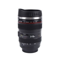 Outre 400ml SLR Camera EF24-105mm Coffee Tea Lens Thermo Travel Cup Plastic Mug(400 ml)