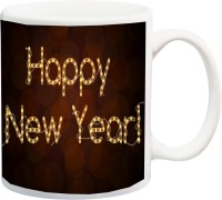 ME&YOU Unique Gifts;Happy New Year Printed Ceramic Mug(350 ml)