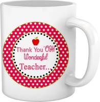 Tied Ribbons Thanke you oh wonderful Teacher Ceramic Mug(300 ml)