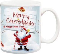 ME&YOU Gift For Famaly Relative;Merry Christmas And Happy New Year Ceramic Mug(325 ml)