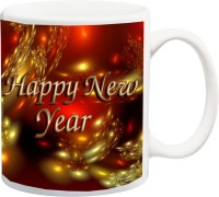 ME&YOU Happy New Year Beautiful 3D Print Ceramic Mug(325 ml)