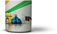 The Indian Monument (Blue Colour Handle) Coffee Ceramic Mug