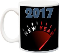 ME&YOU Celebration Gifts for Friends,Relatives;Happy New Year 2017 Printed Ceramic Mug(325 ml)