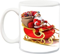 ME&YOU Gift For Famaly/Relative;Merry Christmas Printed Ceramic Mug(325 ml)