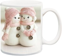 ME&YOU Gift for Husband/Wife/Boyfriend/Girlfriend/Couple On Valentine's Day Or Anniversary;Snow Cartoon Printed Ceramic Mug(325 ml)