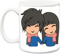ME&YOU Best Gift for Loved Ones;Cute Couple Holding Hands Printed Ceramic Mug(325 ml)