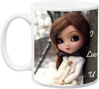 ME&YOU Gift for Husband/Wife/Boyfriend/Girlfriend/Couple On Valentine's Day Or Anniversary;Girl 2 Printed Ceramic Mug(325 ml)