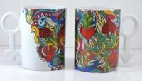 Tatwaa The Elements You & Me Ceramic Mug(150 ml, Pack of 2)