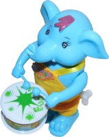 Play King Funny Windup Elephant Drummer Toy(Multicolor)