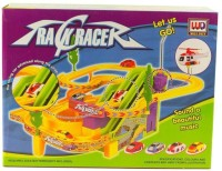 GoMerryKids Track Racer with Advanced Racing Car along with Strap, Beautiful Music and Flying Helicopter(Multicolor)