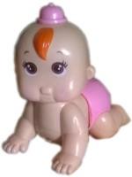 Rana Crawling Giggle Happy Baby(Pink, Brown)