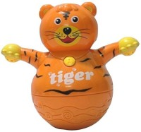 Little Grin Musical Roly Poly Tiger with Projector Lighting Gift Toy for Toddlers Infants Kids ...(Multicolor)