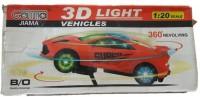 OZ 3D 360 Revolving Car(Multicolor)