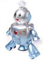 SMILES CREATION Dancing Rotating Robot(Silver, Blue)