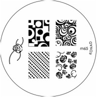 Konad Stamping Image Plate M65(Silver)