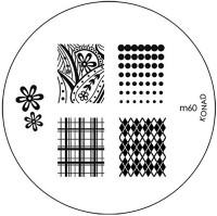 Konad Stamping Nail Art Image Plate - M60