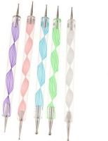 Magideal Dotting Pen Marbleizing Tool 2-Way Nail Art(Multicolor)