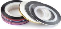 Topnail 10 X Mixed Color Nail Art Striping Roll Tapes(Multi Color) - Price 129 56 % Off