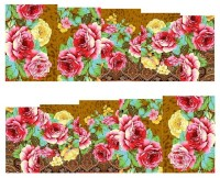 SENECIO� Rose Flower Full Wraps Nail Art Manicure Decals Water Transfer Stickers 1 Sheet(Multicolor)