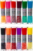 Foolzy Set of 24 Shades Twoway Nail Art Polish(Multicolor Twd)