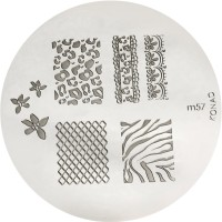Konad Stamping Nail Art Image Plate - M57