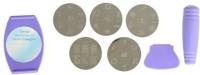 Looks United Nail Polish Art Decoration Stamping Design Kit With 5 Image Plates(Purple)