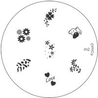 Konad Stamping Nail Art Image Plate - M2