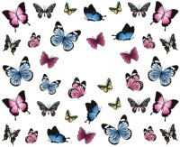 SENECIO� Lovely Butterfly Nail Art Manicure Decals Water Transfer Stickers 1 Sheet(Multicolor)