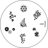 Konad Stamping Nail Art Image Plate - M20