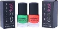 Colorlust Nailpaint Neon orange and Neon green Neon green, Neon orange(12 ml, Pack of 2)