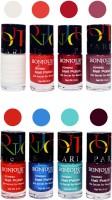 Bonjour Paris Matte Nail Polish Combo 8-10 Multicolor,(48 ml, Pack of 8)