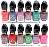 Foolzy Pack of 12 Nail Polish Paint LIGHT1(72 ml)