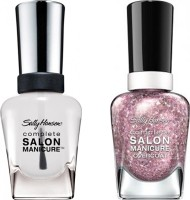 Sally Hansen Complete Salon Manicure Pack of 2 Blush Over Hue-590, Clear'd For Takeoff-010(29.4 ml, Pack of 2)