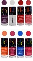 Bonjour Paris Matte Nail Polish Combo 2-3 Multicolor,(48 ml, Pack of 8)