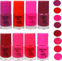 Fashion Bar Neon Combo 8 in 5 Multicolor,(Pack of 8)