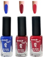 Aroma Care Blue+Pink Matte Nail Polish Combo 6-9-582 Multicolor,(29.7 ml, Pack of 3) - Price 125 68 % Off