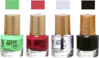Aroma Care Speed Dry Profesional Nail Color 23541 Multicolor,(39.6 ml, Pack of 4)