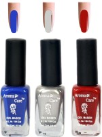 Aroma Care Silver+Red Matte Nail Polish Combo 6-10-549 Multicolor,(29.7 ml, Pack of 3) - Price 125 68 % Off