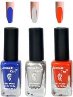 Aroma Care Silver+Orange Matte Nail Polish Combo 6-10-636 Multicolor,(29.7 ml, Pack of 3) - Price 125 68 % Off